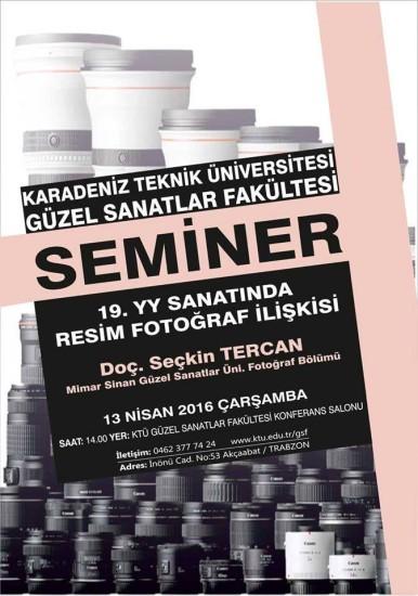 """""""19. YÜZYIL SANATINDA FOTOĞRAF-RESİM İLİŞKİSİ"""" KONULU SEMİNER"""