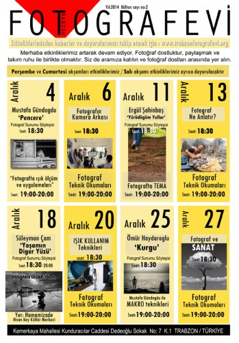 Trabzon FOTOGRAFEVİ Bülten No:2 - ARALIK 2014