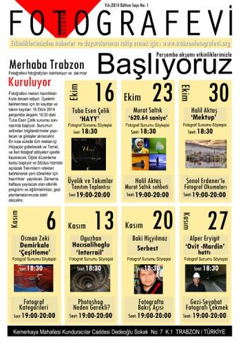 Trabzon FOTOGRAFEVİ Bülten No:1